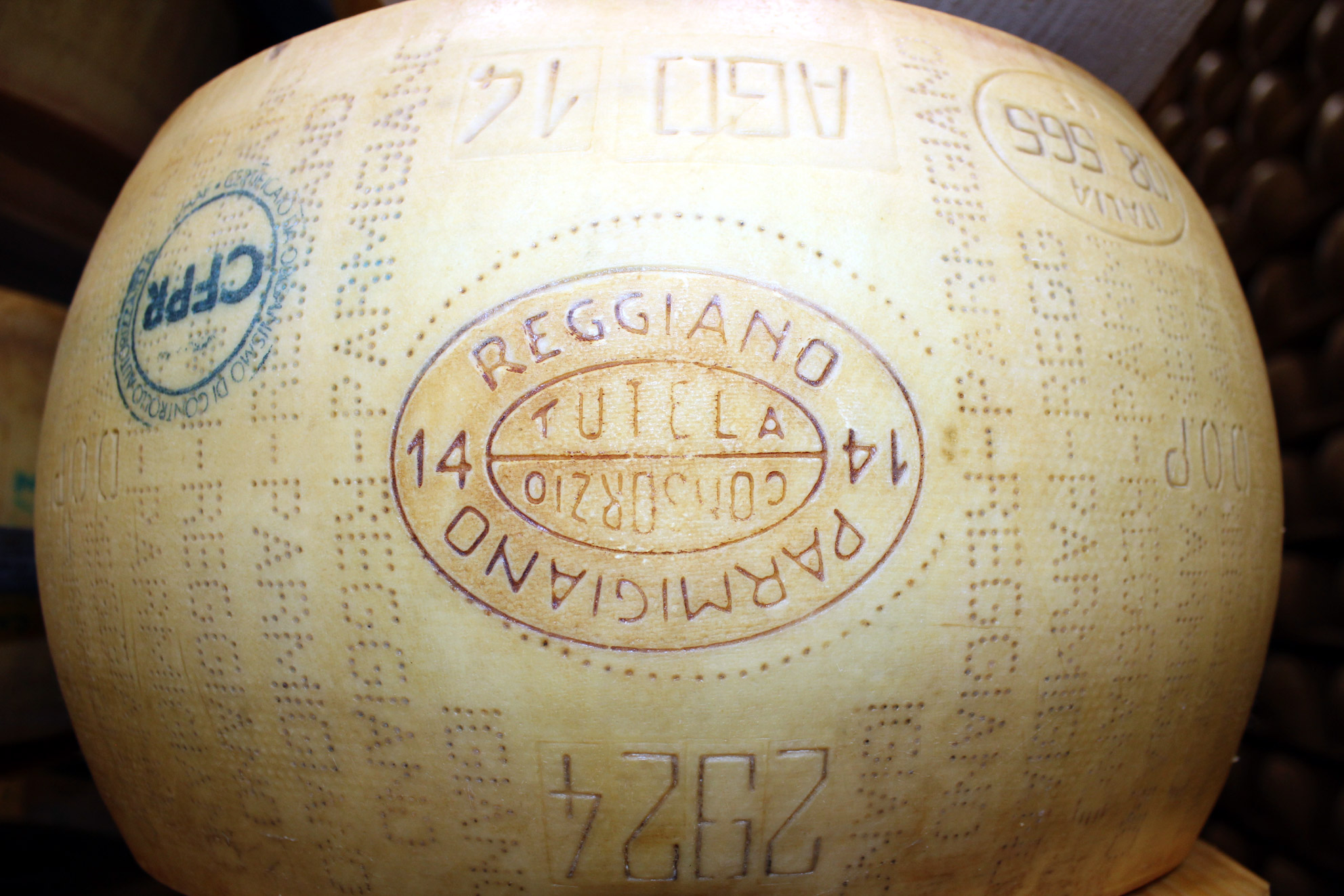 Foto: Parmigiano-Reggiano-ost fra produsenten Hombre