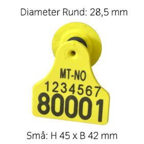 Produktfoto: Combi 3000 Rund Små, gul med preging