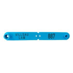Foto: Combi Signal blått øremerke for villsaulam