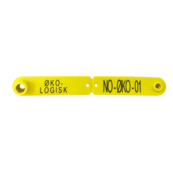 Foto: Combi Signal gult øremerke for økologisk lam pose à 25 stk.