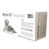Produktfoto: MyPet ID TempTrack leveres i en boks med 10 sprøyter
