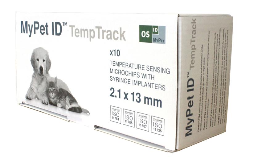 Produktfoto: Boks med MyPet ID TempTrack