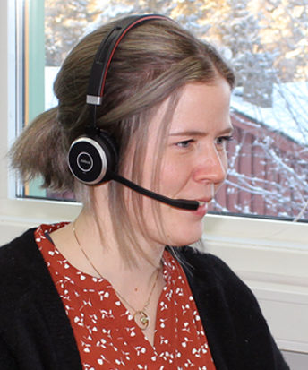 Foto: Camilla Telnes kunderådgiver aktivitetsmåling OS ID kundesenter